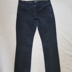 LOFT modern straight faded black jeans size 27/4P